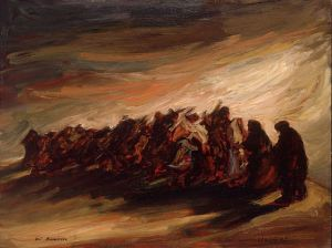 """Refugees 1987"" - original work by Zvi Malnovitzer. Obtained from Wikimedia Commons. Used under  Creative Commons Attribution-Share Alike 3.0 Unported license."