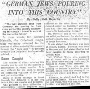 German Jews Pouring into this country