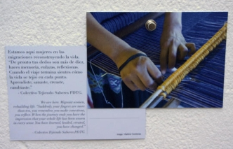 Postcard on display at the Exchanging Cultures of Equality exhibition