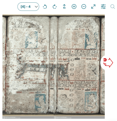 Screenshot of the Dresden Library interactive virtual display of the 'Dresden Codex'